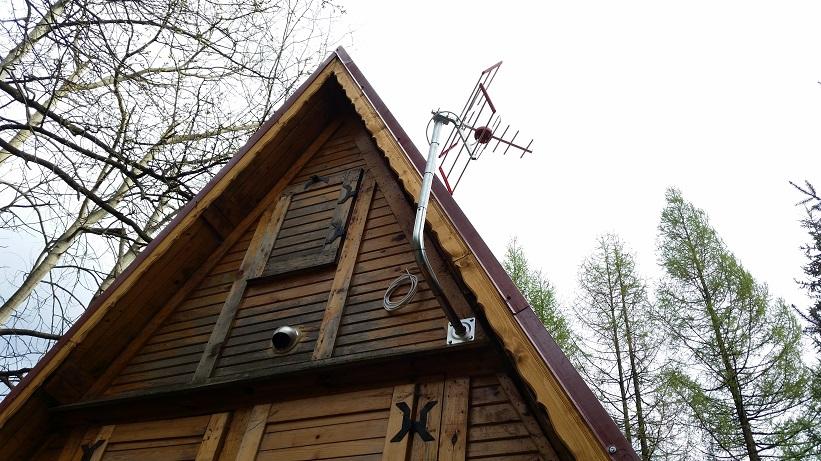 Montaż anten na domkach letniskowych