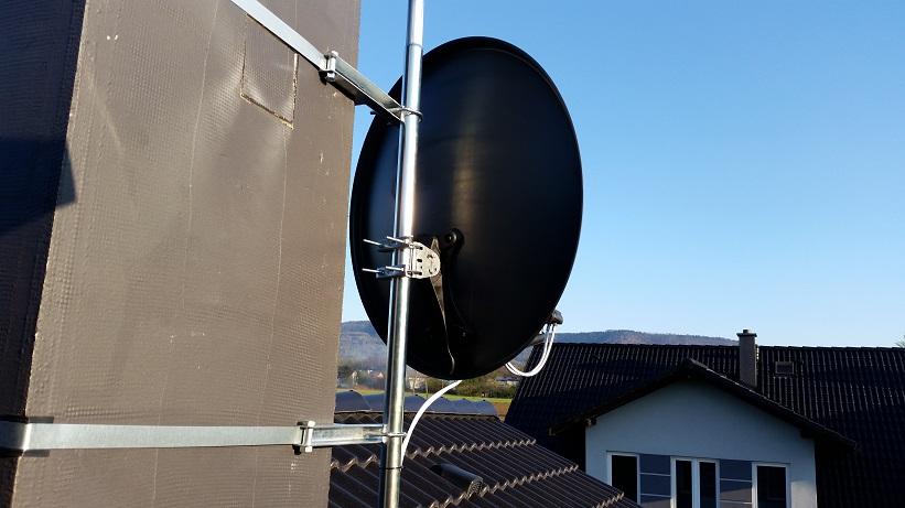 Montaże anten satelitarnych