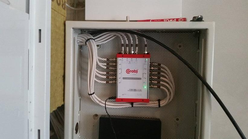 Wykonanie instalacji DVBT oraz SAT razem z pomiarami