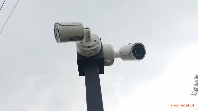 Montaż kamer na masztach